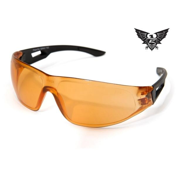 Edge Tactical Eyewear Dragon Fire - Matte Black Frame / Tigers Eye Lens