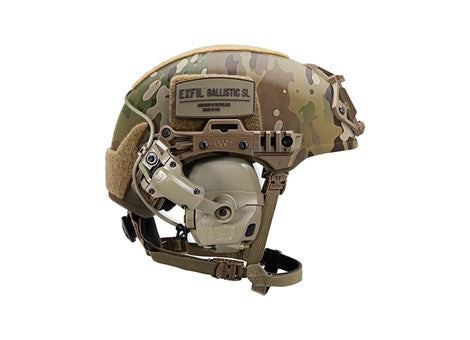 Team Wendy EXFIL® Adapter Kit for Ops-Core AMP™ Communication Headset shown on EXFIL® helmet