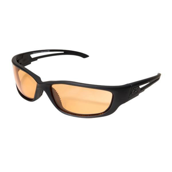 Edge Tactical Eyewear Blade Runner XL - Soft-Touch Matte Black Frame with Gasket / Tiger's Eye Vapor Shield Lens