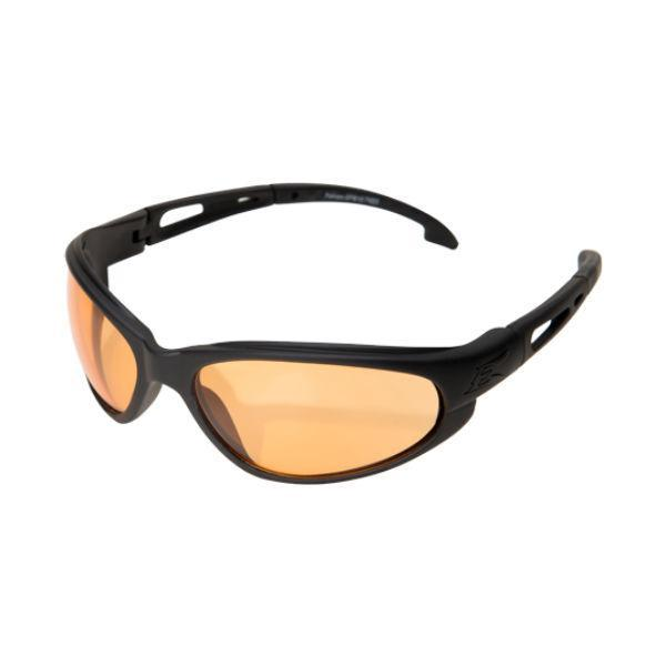 Edge Tactical Eyewear Falcon - Soft-Touch Matte Black Frame with Gasket / Tiger's Eye Vapor Shield Lens