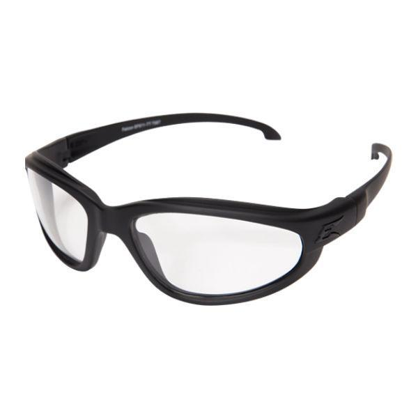 Edge Tactical Eyewear Falcon Thin Temple - Soft-Touch Matte Black Frame with Gasket / Clear Vapor Shield Lens
