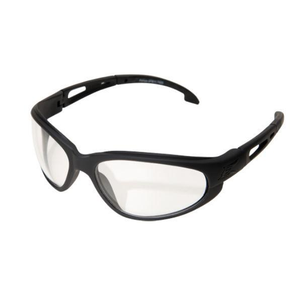 Edge Tactical Eyewear Falcon - Soft-Touch Matte Black Frame with Gasket / Clear Vapor Shield Lens