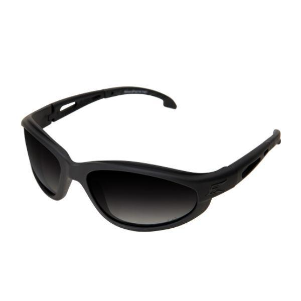 Edge Tactical Eyewear Falcon - Soft-Touch Matte Black Frame with Gasket / Polarized Gradient Smoke Lens