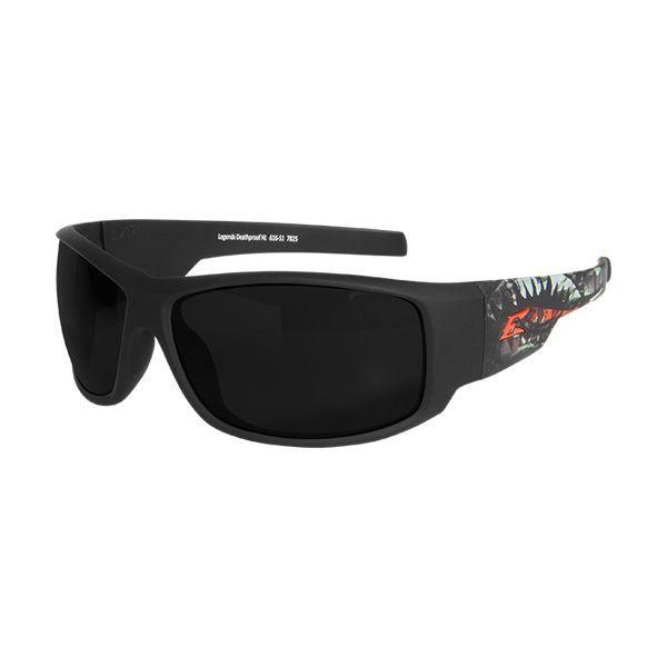 Edge Tactical Eyewear Legends Deathproof - Soft-Touch Black & Green Frame / Smoke Vapor Shield Lens