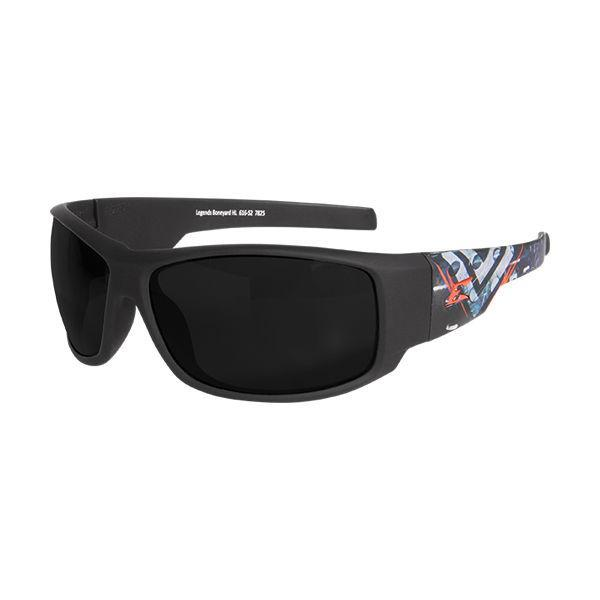 Edge Tactical Eyewear Legends Boneyard - Soft-Touch Black & Gray Frame / Smoke Vapor Shield Lens