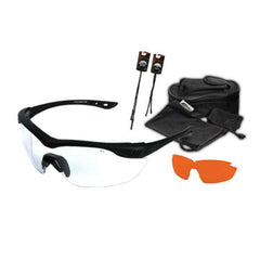 Edge Tactical Eyewear Overlord 2 Lens Kit - Soft-Touch Matte Black Frame / Clear Vapor Shield, Tiger's Eye Vapor Shield Lenses