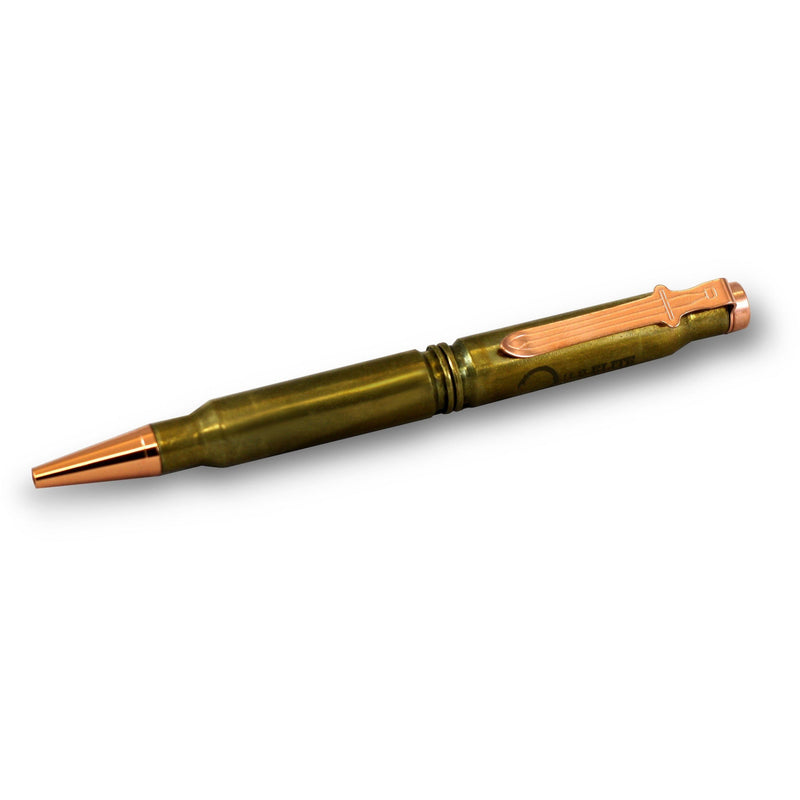 Junior's 7.62 Brass Bullet Pen (Engraved w/ U.S. Elite Logo)
