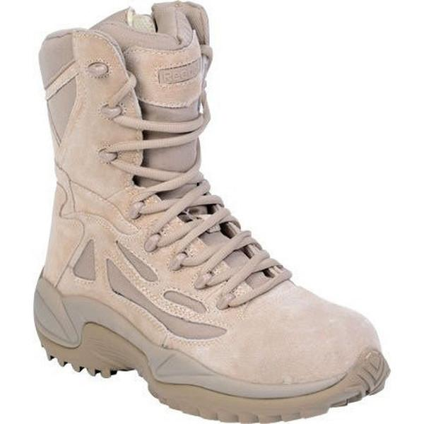 "Reebok RB894 Women's Rapid Response RB Stealth 8"" Boot with Side Zipper - Desert Tan"