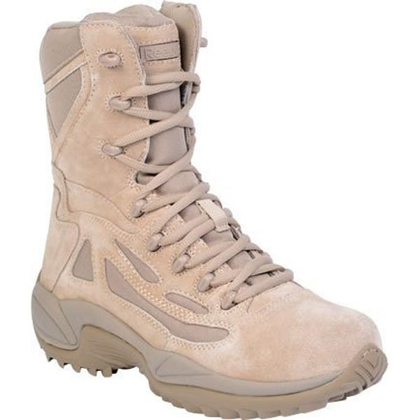"Reebok RB8895 Men's Rapid Response RB Stealth 8"" Boot with Side Zipper - Desert Tan"