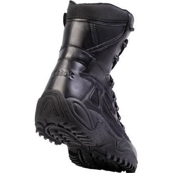 "Reebok RB8877 Men's Rapid Response RB Stealth 8"" Waterproof Boot with Side Zipper - Black"