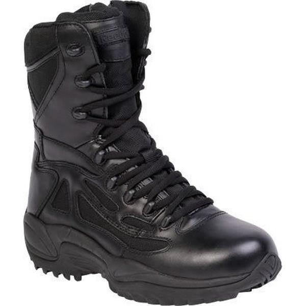"Reebok RB8874 Men's Rapid Response RB Stealth 8"" Boot with Side Zipper - Black"