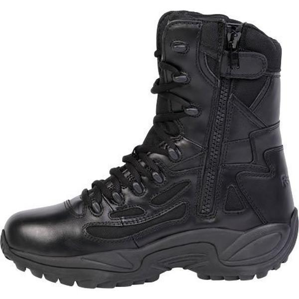 "Reebok RB877 Women's Rapid Response RB Stealth 8"" Waterproof Boot with Side Zipper - Black"