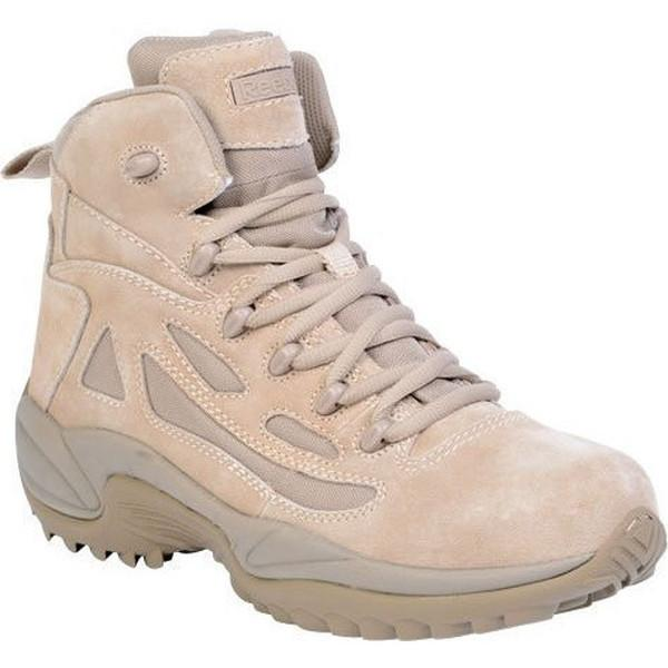 "Reebok RB8695 Men's Rapid Response RB Stealth 6"" Boot with Side Zipper - Desert Tan"