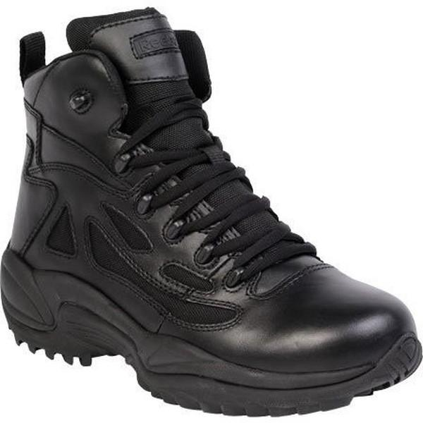 "Reebok RB8674 Men's Rapid Response RB Stealth 6"" Boot with Side Zipper - Black"