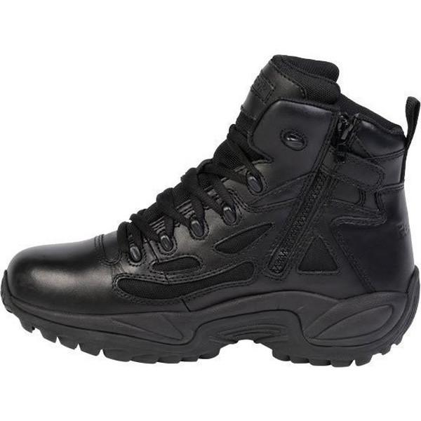 "Reebok RB864 Women's Rapid Response RB Stealth 6"" Boot with Side Zipper - Black"