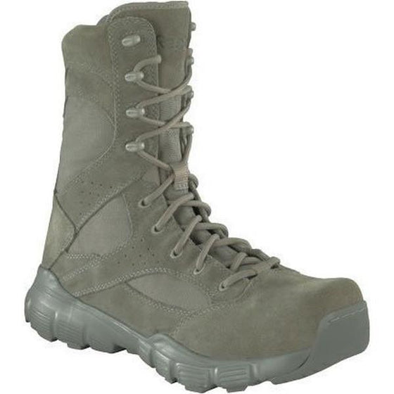 "Reebok RB8835 Dauntless 8"" Composite Toe Tactical Boot with Side Zipper - Sage Green"