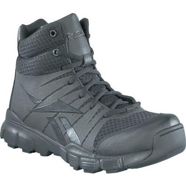 "Reebok RB4507 Dauntless 5"" Soft Toe Tactical Seamless Boot with Side Zipper - Black"