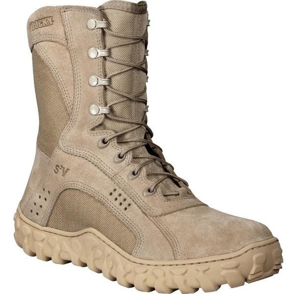 "Rocky Men's 8"" S2V Vented Military Duty Boot - Tan"