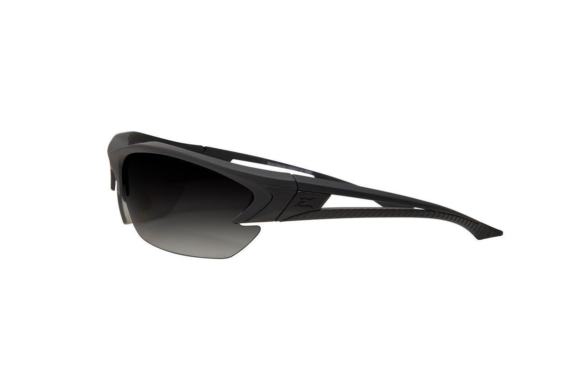 Edge Tactical Eyewear Acid Gambit 2 Lens Kit - Soft-Touch Matte Black Frame / Polarized Gradient Smoke, Tiger's Eye Vapor Shield Lenses