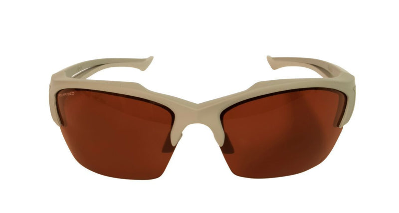 Edge Tactical Eyewear Acid Gambit 2 Lens Kit - Soft-Touch Matte Desert Sand Frame / Polarized Copper, Tiger's Eye Vapor Shield Lenses