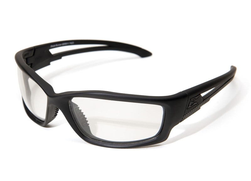 Edge Tactical Eyewear Blade Runner - Soft-Touch Matte Black Frame with Gasket / Clear Shield Lens