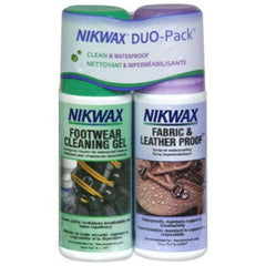 Nikwax Fabric and Leather Footwear Clean/Waterproof DUO Pack (Spray)