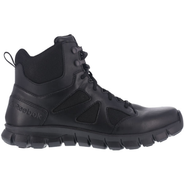 "Reebok RB086 Women's Sublite Cushion 6"" Soft Toe Tactical Boot with Side Zipper - Black"