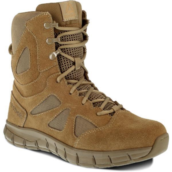 "Reebok RB808 Women's Sublite Cushion 8"" Soft Toe Tactical Boot - Coyote"
