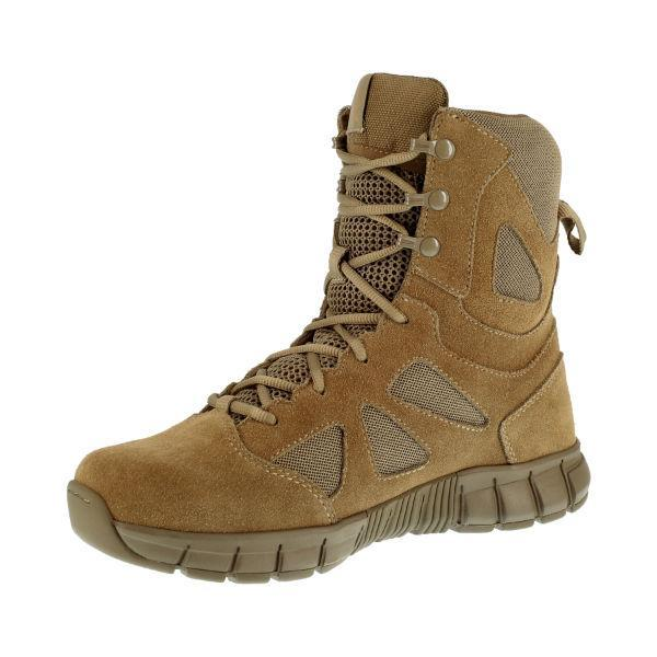 "Reebok RB8808 Men's Sublite Cushion 8"" Soft Toe Tactical Boot - Coyote"