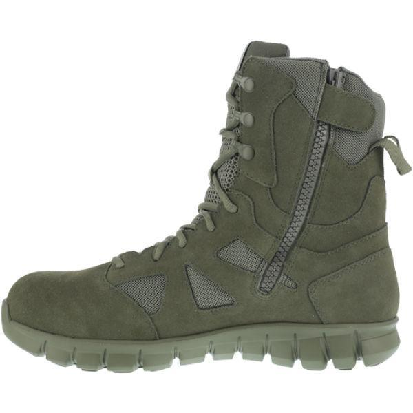"Reebok RB8881 Men's Sublite Cushion 8"" Composite Toe Boot with Side Zipper - Sage Green"
