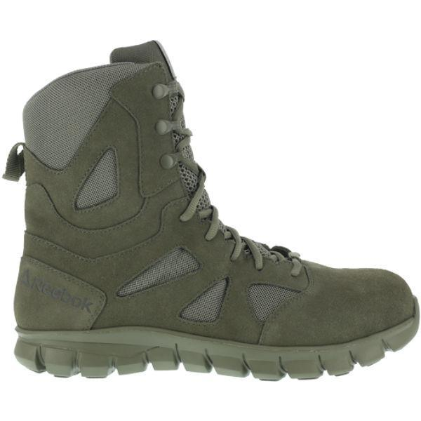 "Reebok RB8882 Men's Sublite Cushion 8"" Soft Toe Tactical Boot - Sage Green"