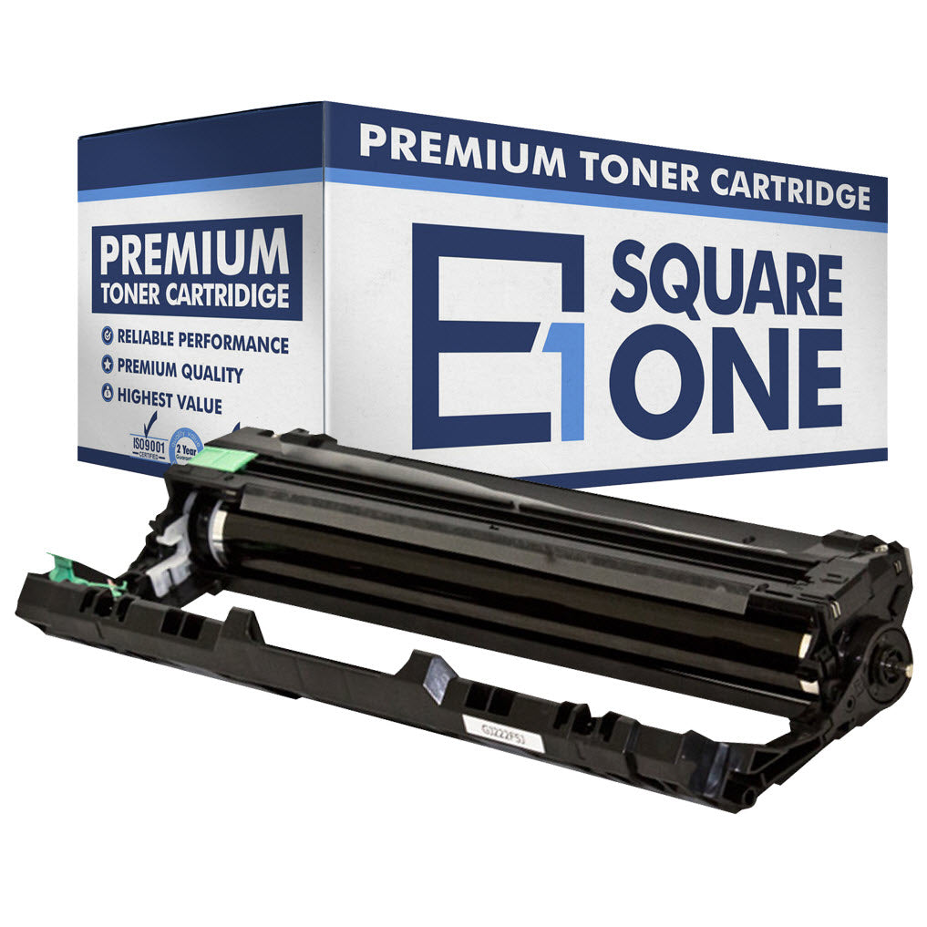 eSquareOne Compatible Drum Unit Replacement for Brother DR221CL-BK (Black, 1-Pack)