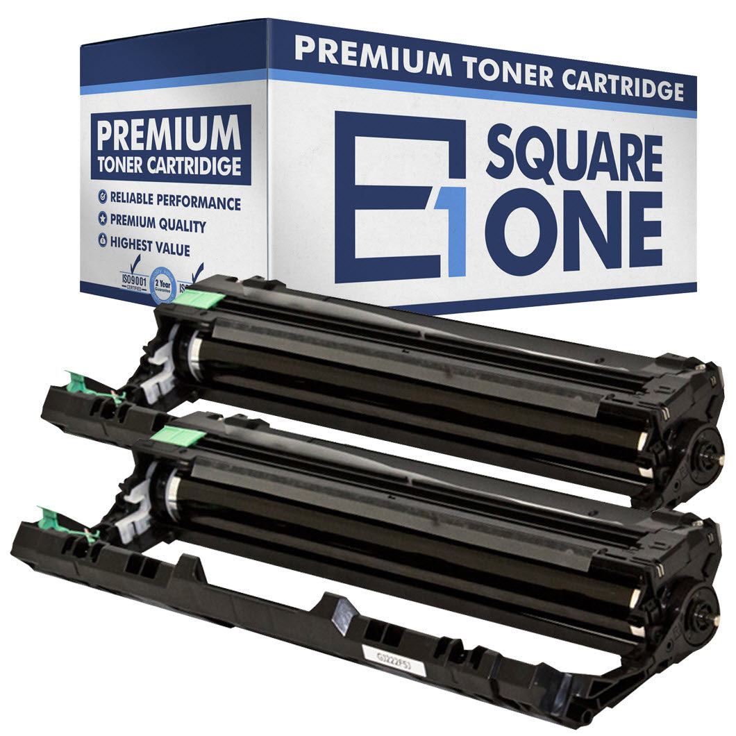 eSquareOne Compatible Drum Unit Replacement for Brother DR221CL-BK (Black, 2-Pack)