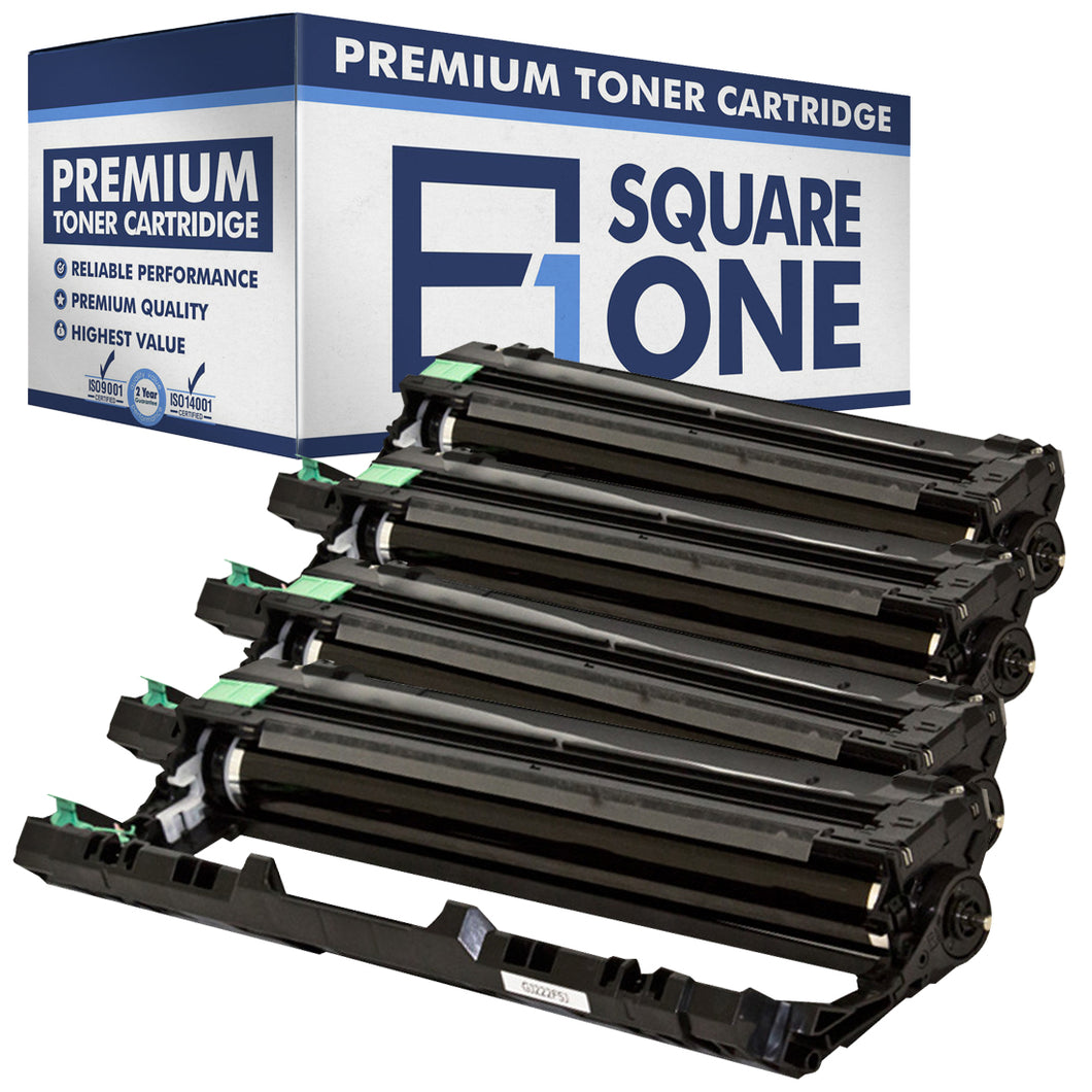 eSquareOne Compatible Drum Unit Replacement for Brother DR221CL-BK DR221CL-CN DR221CL-MA DR221CL-YW (Black, Cyan, Magenta, Yellow)