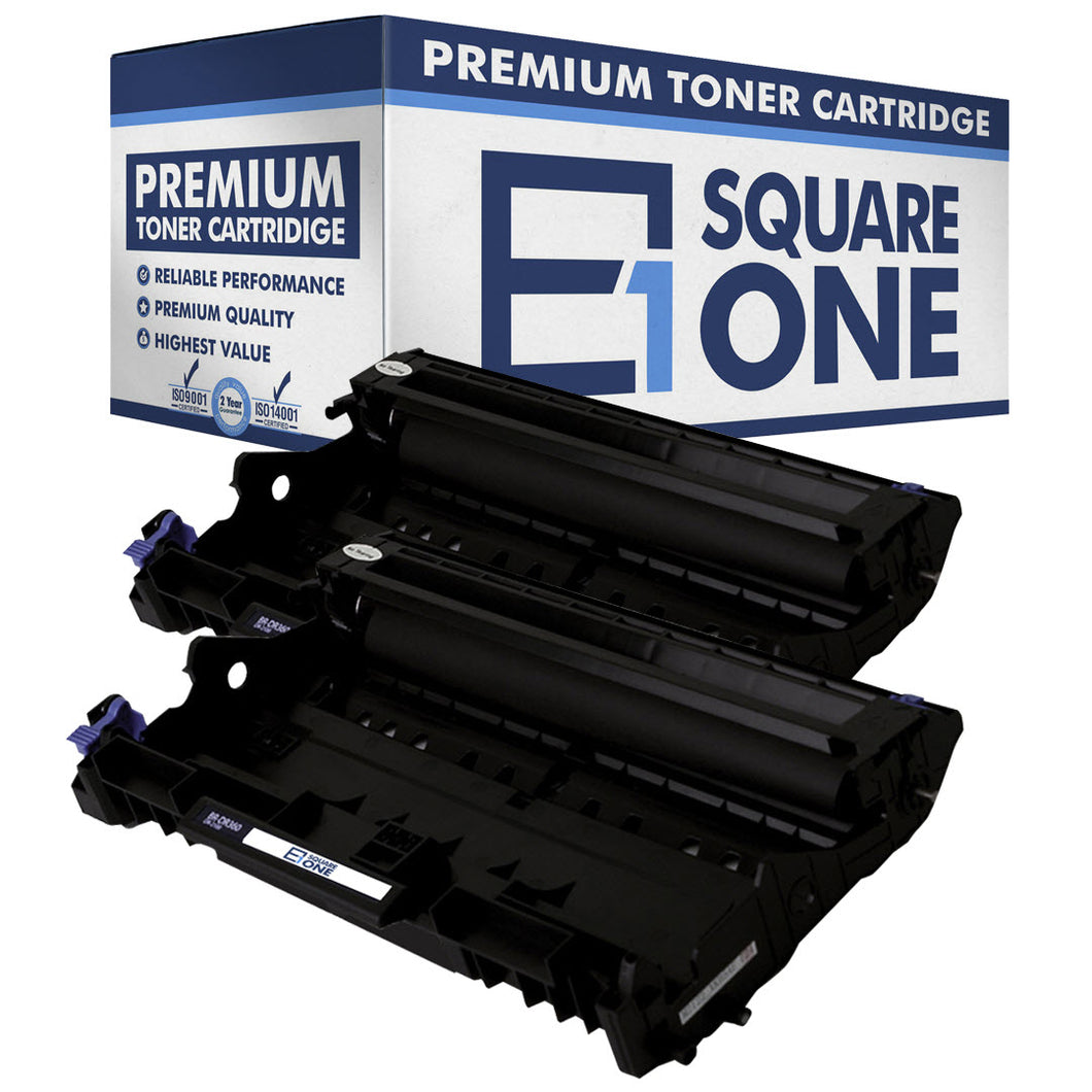 eSquareOne Compatible Drum Unit Replacement for Brother DR360 (Black, 2-Pack)