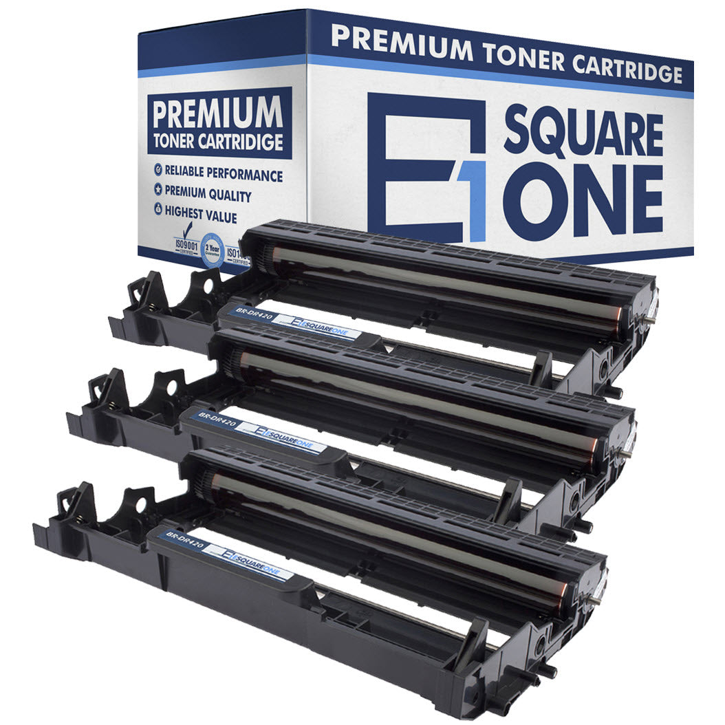 eSquareOne Compatible Drum Unit Replacement for Brother DR420 (Black, 3-Pack)