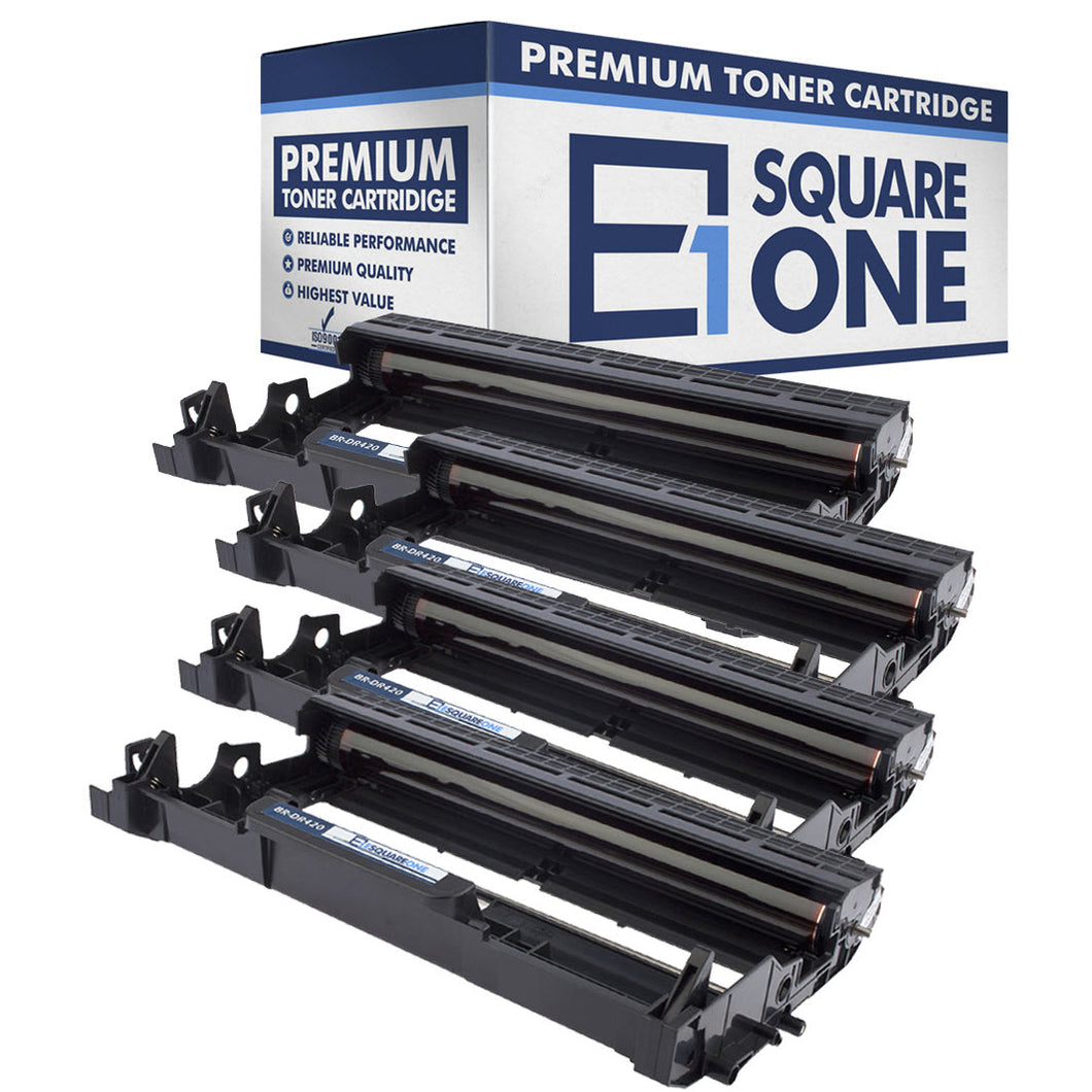 eSquareOne Compatible Drum Unit Replacement for Brother DR420 (Black, 4-Pack)