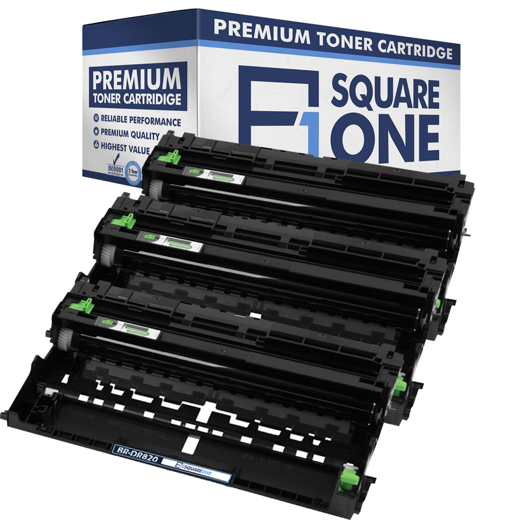 eSquareOne Compatible Drum Unit Replacement for Brother DR820 (Black, 3-Pack)