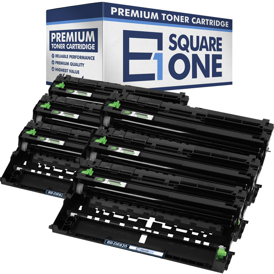 eSquareOne Compatible Drum Unit Replacement for Brother DR820 (Black, 6-Pack)