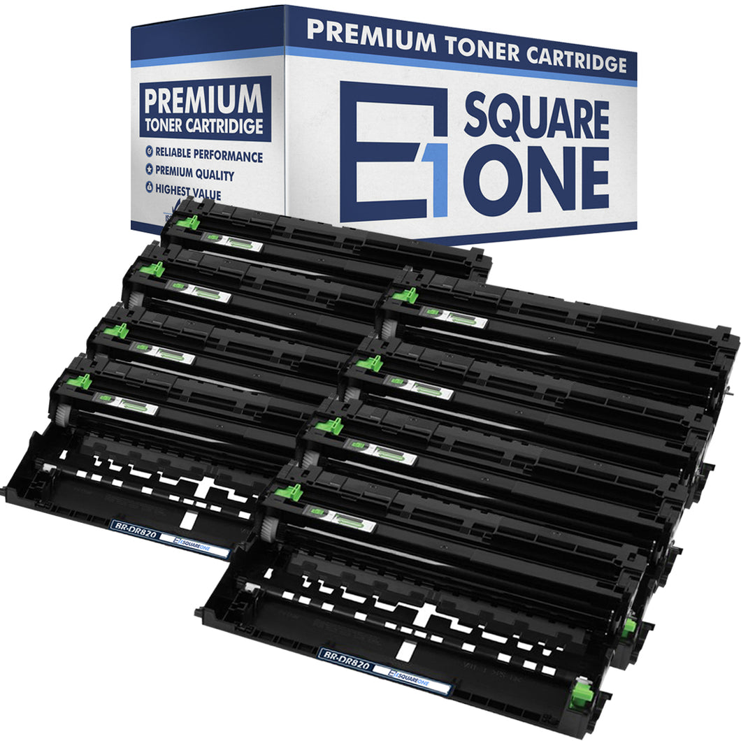 eSquareOne Compatible Drum Unit Replacement for Brother DR820 (Black, 8-Pack)