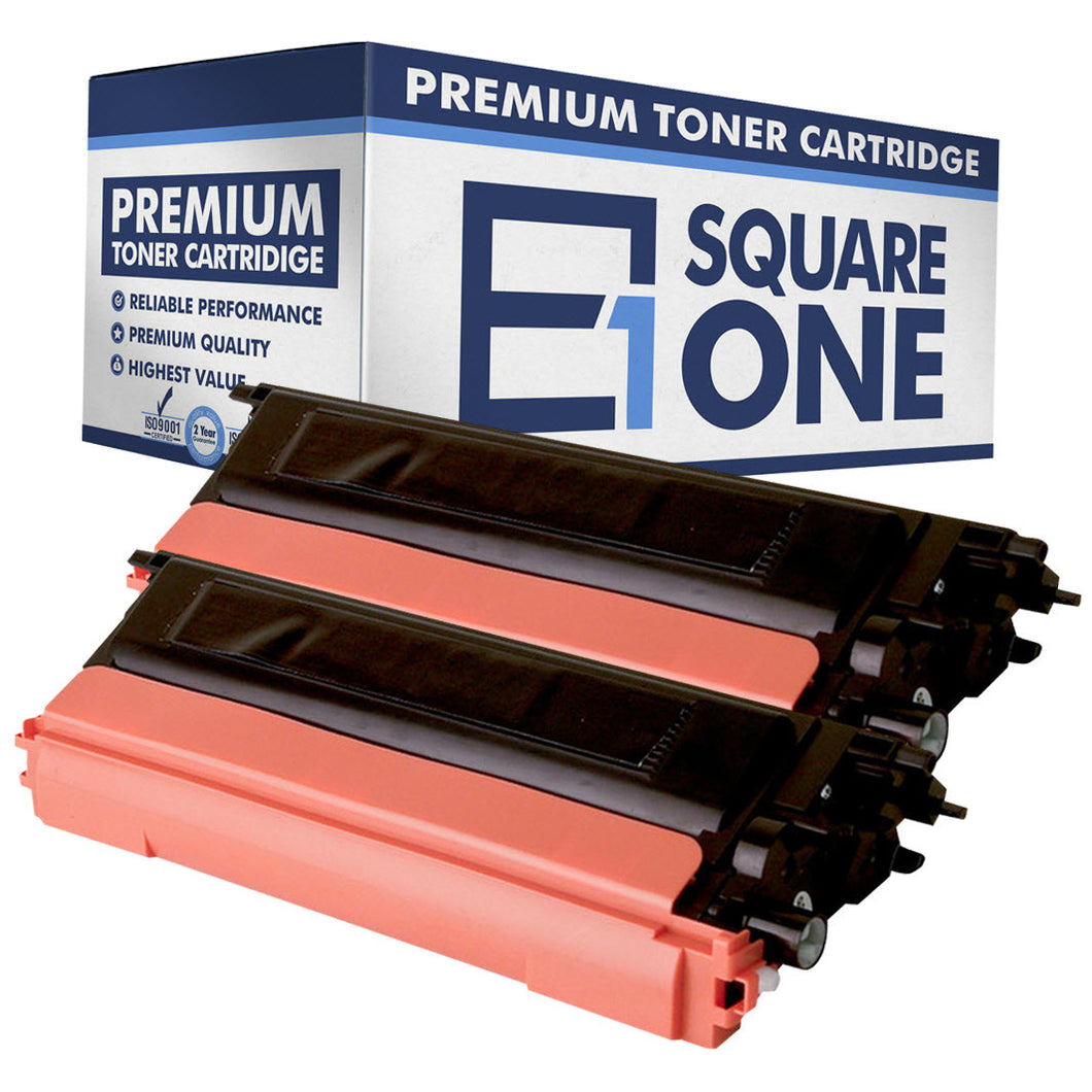 eSquareOne Compatible High Yield Toner Cartridge Replacement for TN115BK TN110BK (Black, 2-Pack)