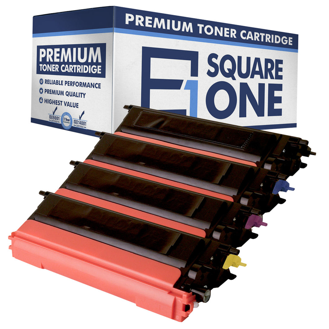 eSquareOne Compatible High Yield Toner Cartridge Replacement for TN115C TN115M TN115Y TN110C TN110M TN110Y TN110BK (Black, Cyan, Magenta, Yellow)