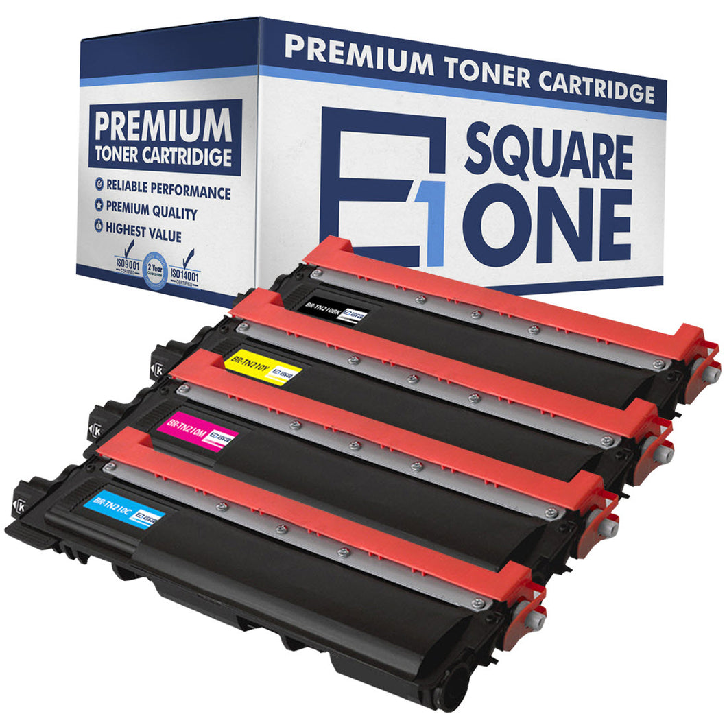 eSquareOne Compatible Toner Cartridge Replacement for TN210BK TN210C TN210M TN210Y (Black, Cyan, Magenta, Yellow)