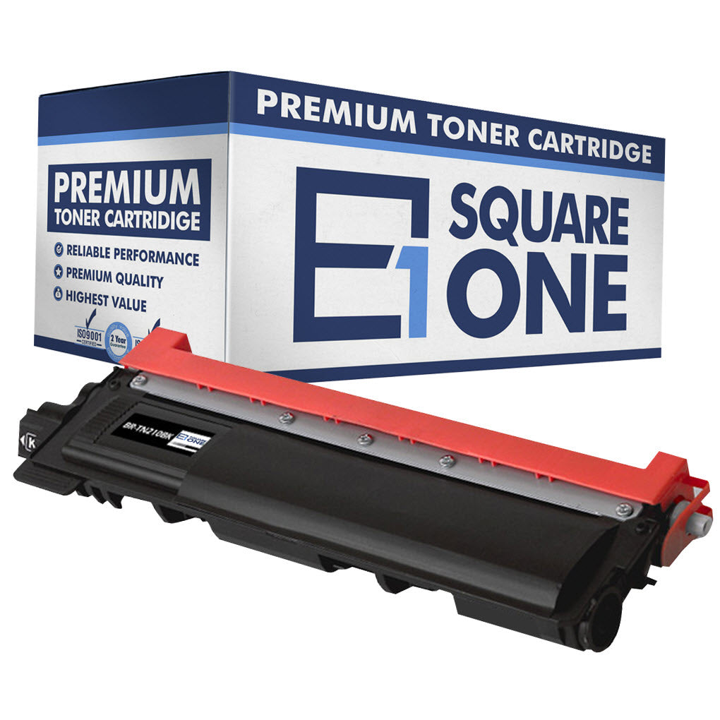 eSquareOne Compatible Toner Cartridge Replacement for TN210BK (Black, 1-Pack)
