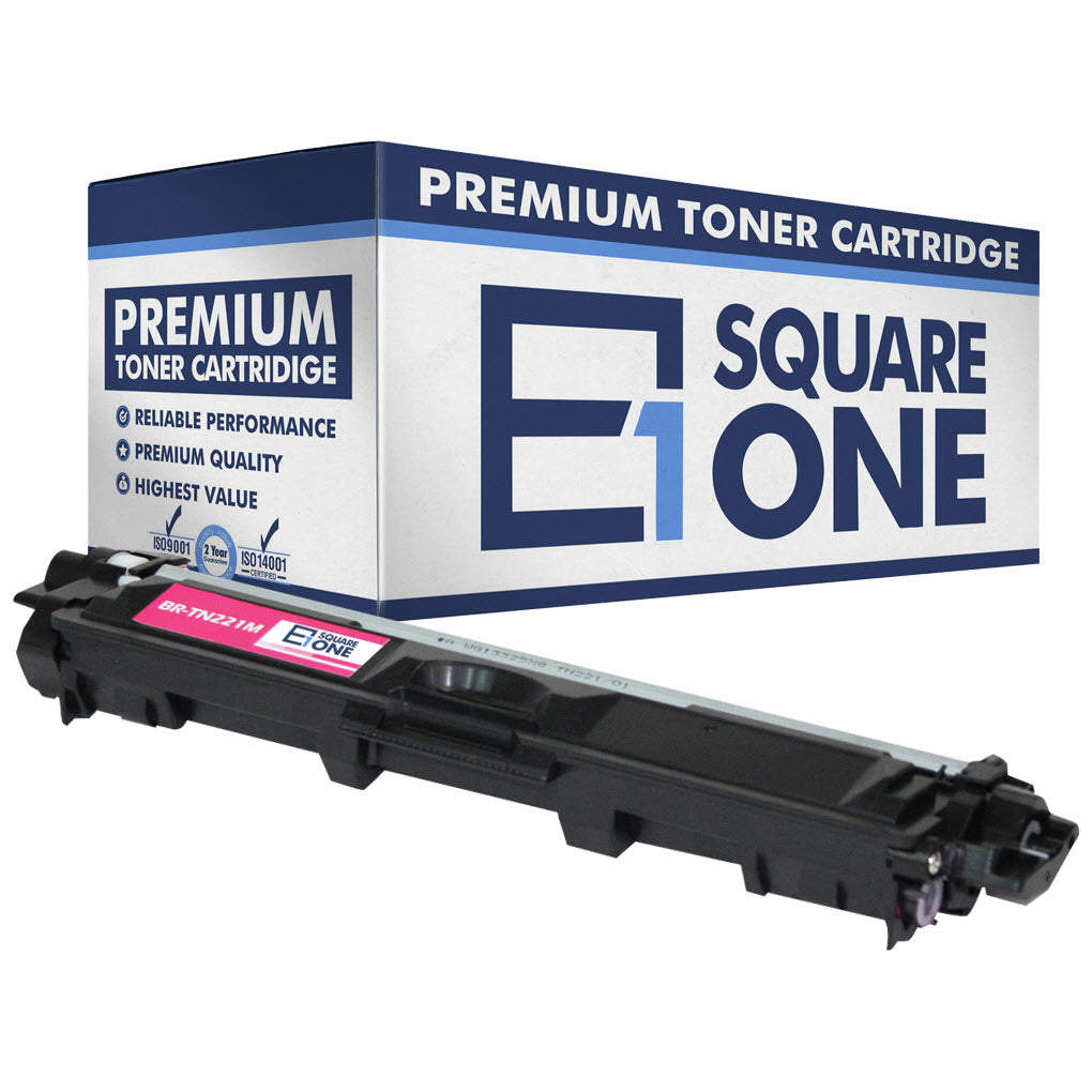 eSquareOne Compatible Toner Cartridge Replacement for Brother TN221M (Magenta, 1-Pack)