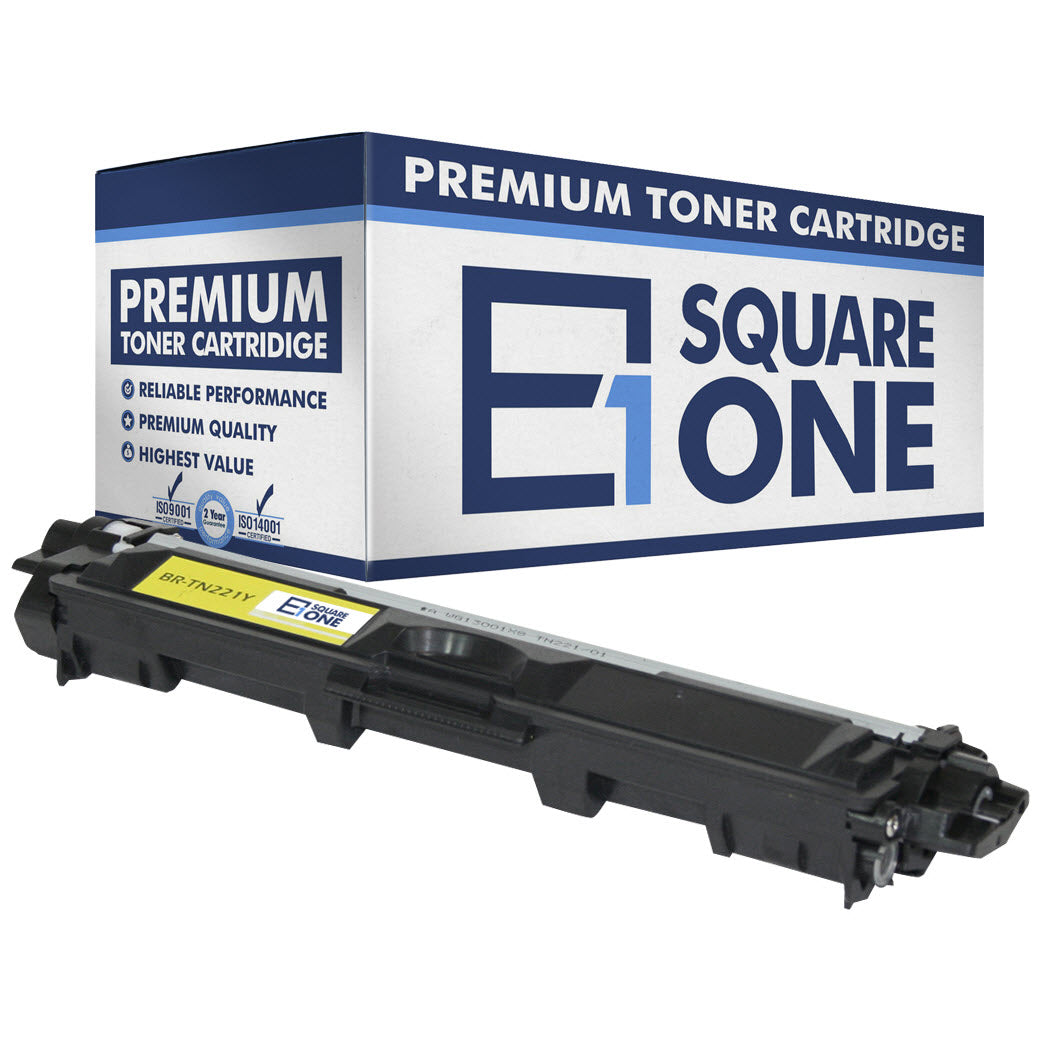 eSquareOne Compatible Toner Cartridge Replacement for Brother TN221Y (Yellow, 1-Pack)