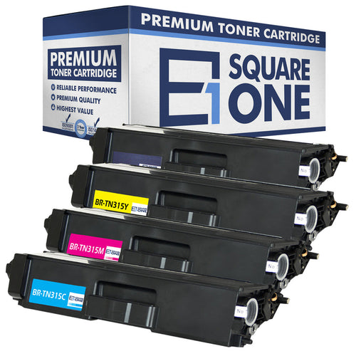eSquareOne Compatible (High Yield) Toner Cartridge Replacement for Brother TN310BK TN310C TN310M TN310Y TN315BK TN315C TN315M TN315Y (Black, Cyan, Magenta, Yellow)