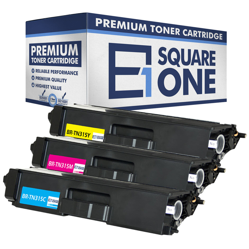 eSquareOne Compatible (High Yield) Toner Cartridge Replacement for Brother TN310C TN310M TN310Y TN315C TN315M TN315Y (Cyan, Magenta, Yellow)