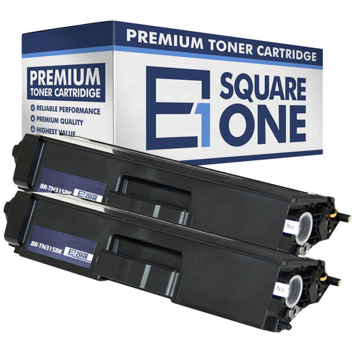 eSquareOne Compatible (High Yield) Toner Cartridge Replacement for Brother TN310BK TN315BK (Black, 2-Pack)