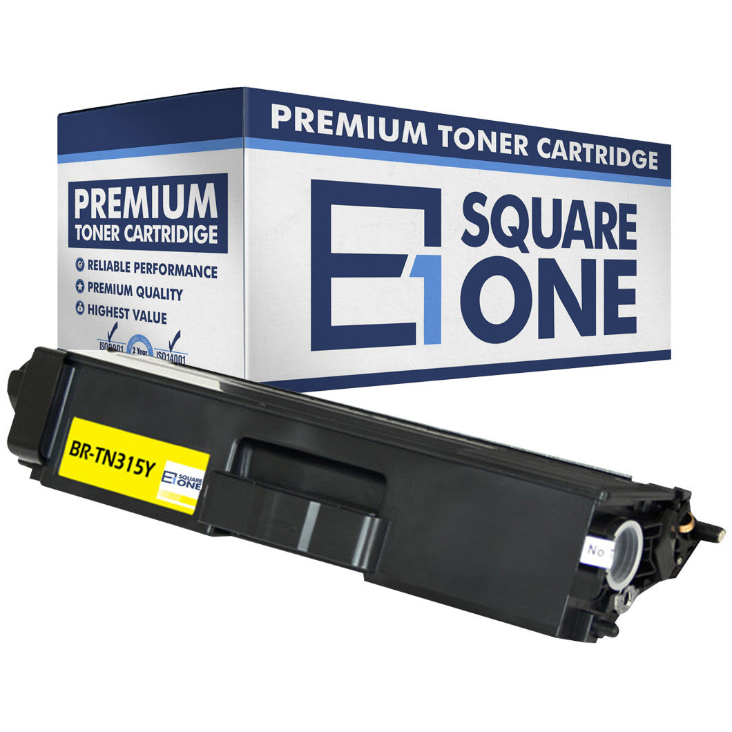 eSquareOne Compatible (High Yield) Toner Cartridge Replacement for Brother TN310Y TN315Y (Yellow, 1-Pack)